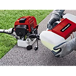 Einhell Débroussailleuse thermique GC-BC 52 I AS (moteur 2 temps, Réservoir carburant 900 ml, Longueur du fil 4 m, Easy start system, Harnais confortable, livré avec lame 3 dents et bobine bouble fil)