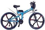 Bicicleta eléctrica Bicicleta eléctrica por la mon 26 en las bicicletas plegables eléctricos, 48V 10A completa Boost suspensión de bicicleta de montaña Ciclismo Adultos para los senderos de la selva,