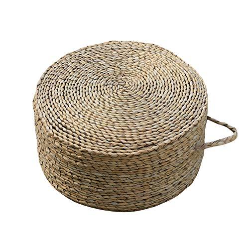 LTINN Cojines de Paja, alfombras de ratán para la Ceremonia del té, meticulosas y compactas, Gruesas y Circulares pastorales Tejidas a Mano, colchonetas de meditación para Yoga, Gran practicidad