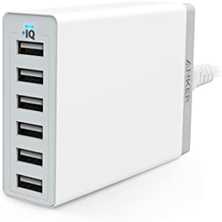 Anker PowerPort 6(60W 6ポート USB急速充電器) iPhone / iPad / iPod / Xperia / Galaxy / Nexus / 3DS / PS Vita / ウォークマン他対応 【PowerIQ搭載...