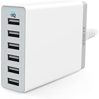 Anker PowerPort 6(60W 6ポート USB急速充電器) iPhone / iPad / iPod / Xperia / Galaxy / Nexus / 3DS / PS Vita / ウォークマン他対応 【PowerIQ搭載】(ホワイト)