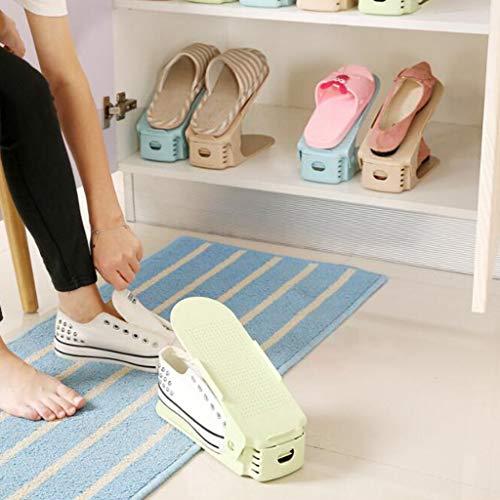 Gabinete de zapatos a prueba de polvo Talladora de zapatos ajustable, Organizador...