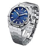 CADISEN 8180 Moda Casual Relojes automáticos para Hombres Relojes de Pulsera mecánicos para Hombres de Acero Inoxidable Completo 42MM Dial Japón NH35A Relojes Impermeables 100M para Hombres