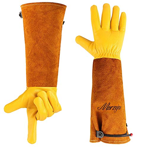 Long Gardening Gloves for Men/Women Puncture Proof Gloves for Rose Pruning amp Cactus Trimming with Adjustable Cuff Lawn Gardener Supplies Tools Gifts