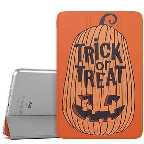 MoKo Case Fit iPad Mini 3/2/1, Halloween Slim Lightweight Smart-shell Stand Cover with Translucent Frosted Back Protector Fit iPad Mini 1/Mini 2/Mini 3, Auto Wake/Sleep - Transform Pumpkin