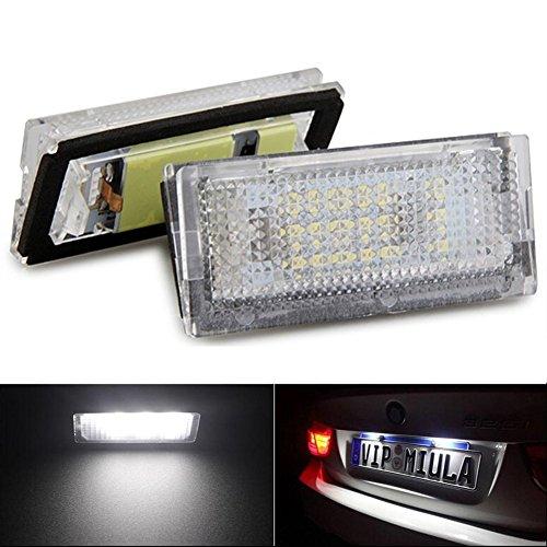 KATUR 1 par Qook blanco 18 LED matrícula luces lámparas bombillas para B MW E46 4D 98-03 Car Styling LED bombilla