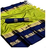 Todays Women's Ethnic Wear Banarasi Silk Saree With Unstitcehd Blouse (2)