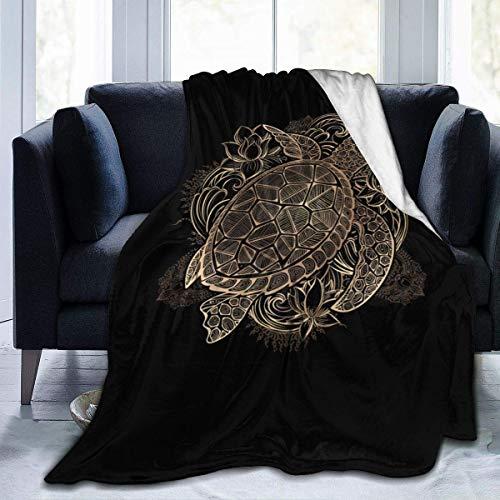 maichengxuan Foruidea Meeresschildkröte Flanell Decke Decke Bettdecke als Tagesdecke/Bettdecke/Bettdecke Weich, leicht, warm und gemütlich 40x50 Zoll für Jungen Mädchen