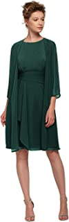 Short Mother of The Bride Dress with Jacket Plus Size Formal Wedding Guest Dresses for Women