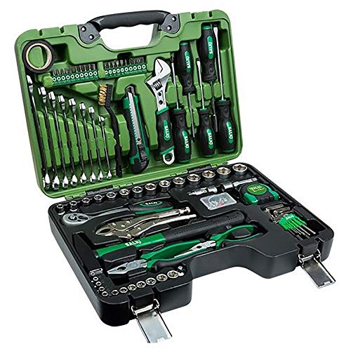 salki 8920082 Maleta de Herramientas Tool Set de 82 piezas multiusos, Metal, L