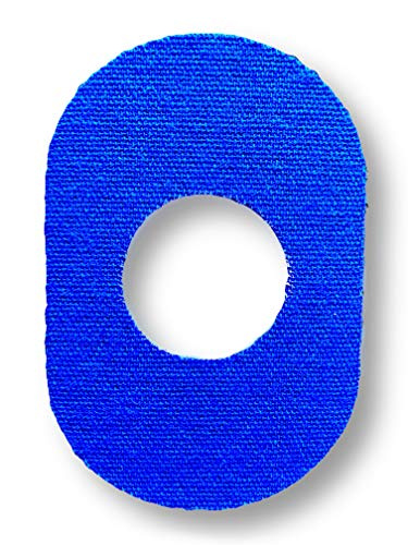 FixTape ademende sensor tape voor Freestyle Libre 1 & 2 I zelfklevende patch met gat voor glucose sensor I bijzonder huidvriendelijk en watervast in hippe designs I 7 stuks (Blauwe)