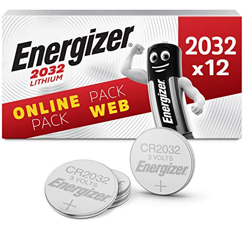 Energizer CR2032 Batterien, Lithium Knopfzelle, 12 Stück