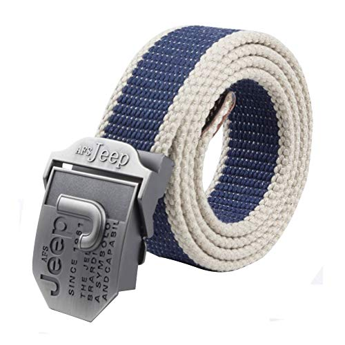 LKMY Cinturones para hombre, Cinturón de lona de nylon para hombre Cinturones militares tácticos, ajuste - resistente y versátil- para jeans | Chinos | Weekday