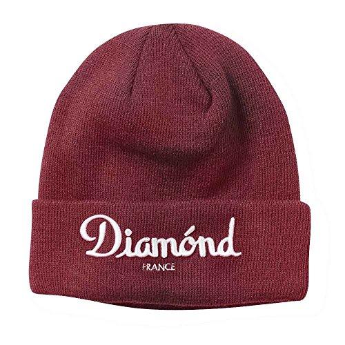 Diamond Supply Co. Champagne Beanie Burgundy