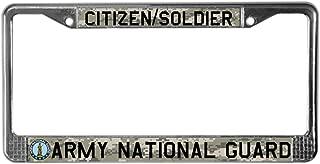 CafePress Army National Guard Chrome License Plate Frame, License Tag Holder