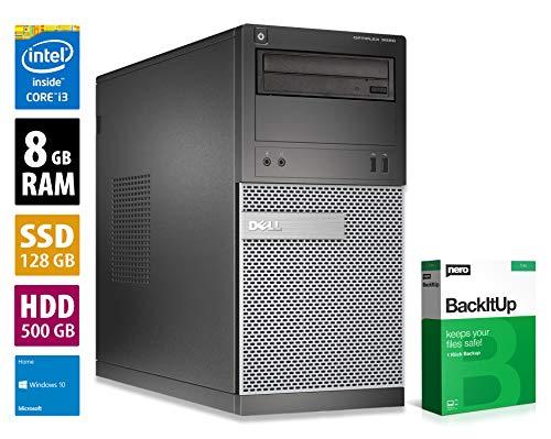 Dell OptiPlex 3020 MT | Office PC | Computer | Intel Core i3-4130 @ 3,4 GHz | 8GB RAM | 128GB SSD | 500GB HDD | DVD-Brenner | Windows 10 Home (Zertifiziert und Generalüberholt)