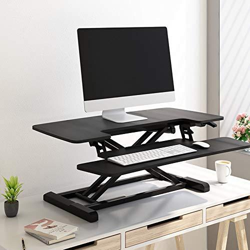 Flexispot Sitz Steh Schreibtisch Stehpult Höhenverstellbarer Schreibtisch Schreibtischaufsatz Computertisch M17MB