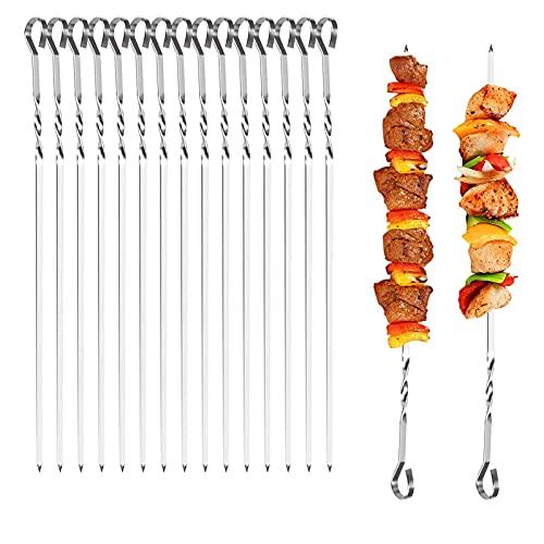 XINCHEN - Spiedini riutilizzabili, 20 spiedini per barbecue, spiedini per carne, carne, gamberetti, pollo, verdure, frutta