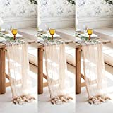 3 table runner pieces X 9 ft each (118in) in every set is an option at less cost to save your time and enjoy your festive table decoration to the fullest. With this ultimate size our cheesecloth table runners fit to the most types of all foldable and...