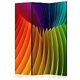murando Biombo 135x172 cm de Impresion Bilateral en el Lienzo de TNT Decoracion Foto Biombo de Madera con Imagen Impresa Separador Grande Home Office Colorido Optica 3D a-B-0048-z-b