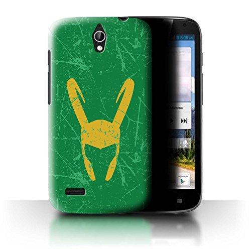 Hülle Für Huawei Ascend G610 Antiheld Comic-Kunst Loki Helm Inspiriert Design Transparent Ultra Dünn Klar Hart Schutz Handyhülle Case