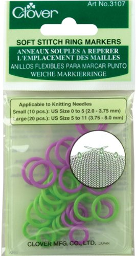 CLOVER Soft Stitch Ring Markers (3107)