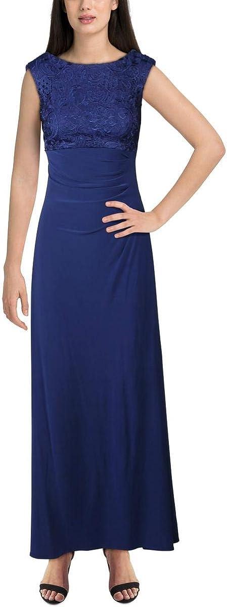 Alex Evenings Women's Long Cowl Back Dress (Petite and Regular)