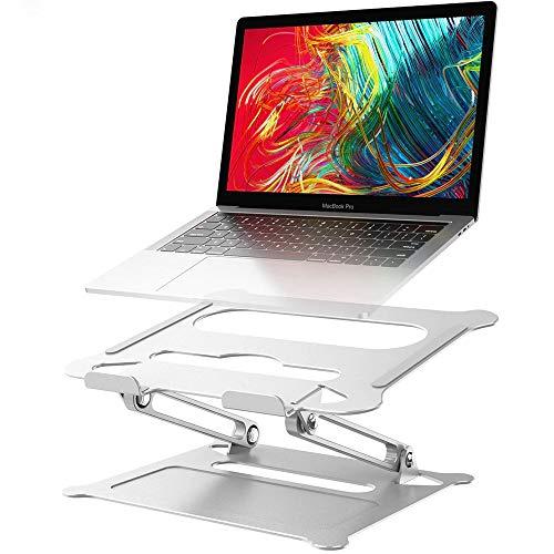 Adjustable Aluminum Laptop Stand, Ergonomic Multi-Angle Desktop Laptop Stand with Ventilation Holes, Suitable for 10-17.3 Inches Laptop