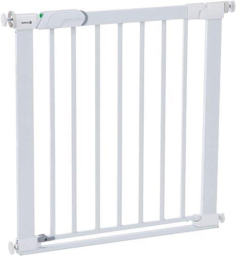 Safety 1st Flat Step, Barrière de Sécurité Enfant/Bebe, Barrière Escalier avec Barre de Seuil Ultra Plate, 73 à 80 cm...