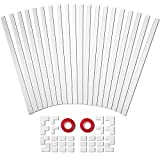 314in One-Cord Cable Concealer, PVC Mini Cord Cover, Paintable Raceway Kit for Hiding a Single Ethernet Cable, Speaker Wire, Floor Lamp Cord - 20X L15.7in W0.59in H0.4in, CC03 White-2Pack