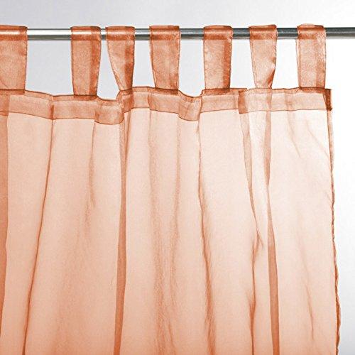 Thedecofactory Primo-Tenda con Passanti, 140 x 250 cm, Colore: Arancione