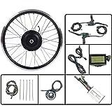 GJZhuan Bicicleta eléctrica 36V350W Frente Kit de conversión EBIKE Motor de Cubo de Rueda con LCD3 Display 16-28 Pulgadas 700C con radios y llanta,16inch LCD Sets