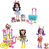 Enchantimals FVJ80 - Picknick im Park Spielset mit 3 Puppen und Tierfiguren, Spielzeug ab 4 Jahren