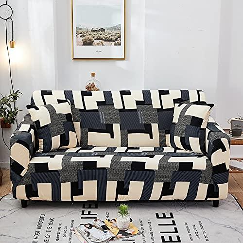 MKQB Funda de sofá de Esquina para Sala de Estar, Funda de sofá con Estampado elástico elástico, Funda de sofá Antideslizante en Forma de L NO.9 1seat-S- (90-140cm