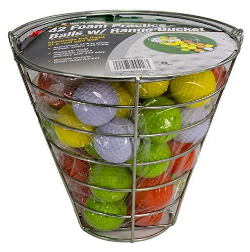 Jef World of Golf Foam Practice Balls (42 Multi-Colored Balls) (Renewed)