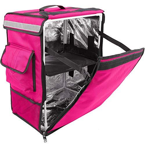 PrimeMatik - Mochila isotérmica 35 x 49 x 25 cm Rosa para Comidas al Aire Libre y Entrega de Pedidos de Comida en Moto o Bicicleta