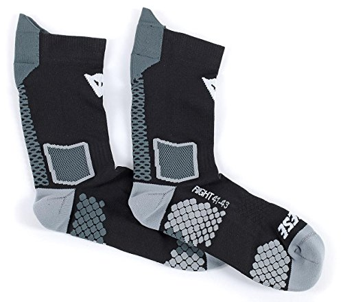 Dainese-D-CORE MID Chaussette, Noir/Anthracite, Taille S