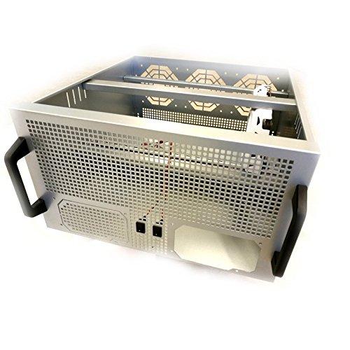 Gehäuse Rack 19 5U Rig für 6X / 8X GPU VGA Karten, Mainboard, 2X Netzteile und 3X Lüfter für Kryptowährung wie Bitcoin, Ethereum etc.