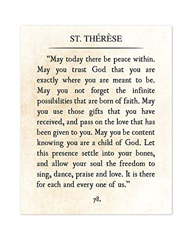 St Terese de Lisieux dictionary page art print reading books gift quotes quote