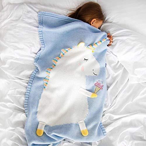 GXFCQKDSZX Sofá Manta 60Cm * 120Cm Unicornio Animal Lindo Bebé Sosteniendo Manta