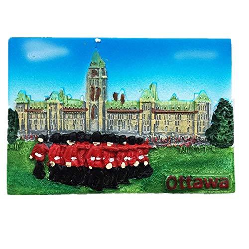 MUYU Magnet Calamita da frigo 3D House of Parliament Ottawa Canada, Decorazione per casa e Cucina, Adesivo Magnetico Ottawa Canada, Idea Regalo