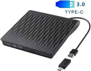Lecteur CD DVD Externe USB 3.0 Type C, Lecteur CD Portable, Graveur DVD Externe pour..