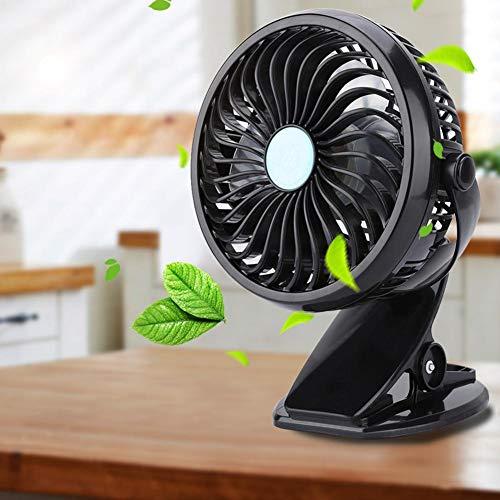 Cikonielf - Mini ventilador de escritorio (ultrasilencioso, con clip)