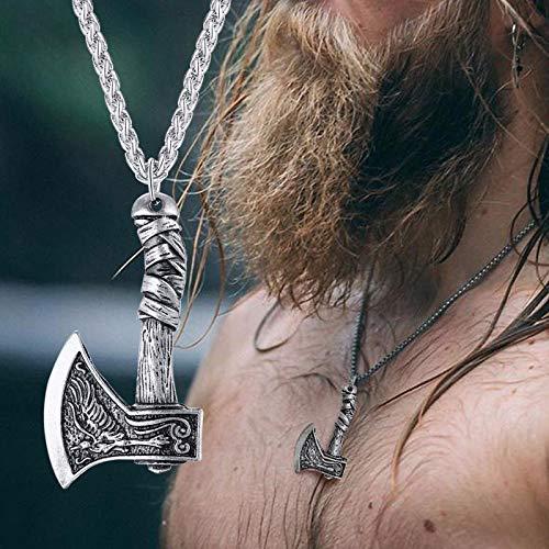 Aldevins&Granger Collar Colgante Cadena Collar Colgante De Hacha para Hombre Nuevo