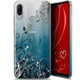 Case for 6.09 Inch Wiko View 3 Lite, Hearts Flowers Design