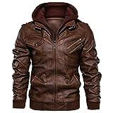 EU Fashions Skintan New Mens Leather Brando Motorcycle Biker Jacket