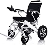 Fold & Travel Lightweight Motorized Electric Power Wheelchair Scooter, Aviation Travel Safe Electric Wheelchair Heavy Duty Power Wheelchair