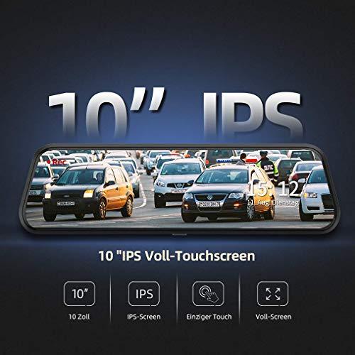 """VanTop H609 Dashcam R¨¹ckspiegel, FHD 1080P Dashcam Auto vorne hinten, mit 10""""IPS Voll Touchscreen, 170¡ã Weitwinkel, Nachtsicht mit STARVIS Sensor, Parkmonitor, Loop-Aufnahme, Einparkhilfe, G-Sensor"""