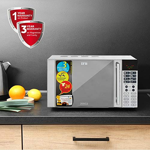 IFB 20 L Convection Microwave Oven (20SC2, Metallic Silver, With Starter Kit)