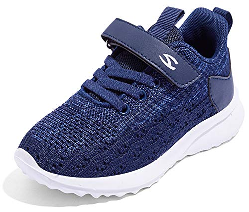 Gaatpot Unisex-Kinder Jungen Sneaker Kinder Sportschuhe Madchen Atmungsaktiv Outdoor Turnschuhe Freizeit Klettverschluss Schuhe Blau 24 EU